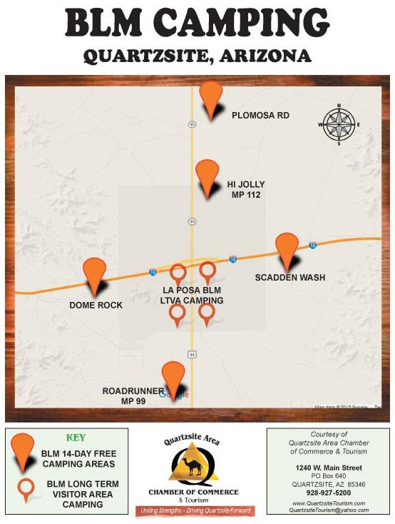 Map Of Arizona Blm Land.Explore Quartzsite Quartzsite Area Chamber Of Commerce Tourism